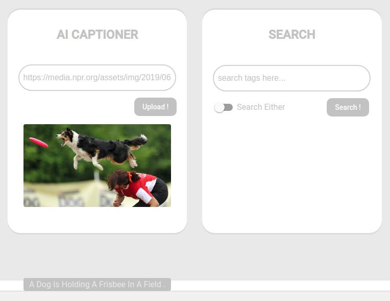 AI-powered image caption generator