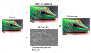 deep learning neural network AI upscaling