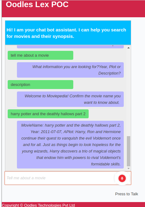 amazon lex chatbot development