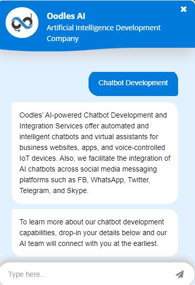 AI-powered CRM chatbot integration